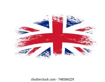 United Kingdom and Northern Ireland grunge Flag.