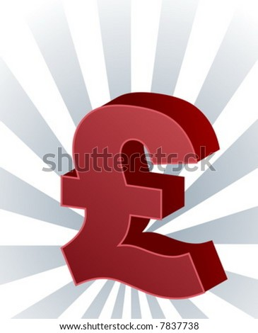 United Kingdom Pound Sterling Currency Symbol Stock Vector Royalty