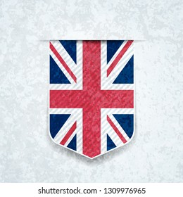 United Kingdom Shield label Illustration