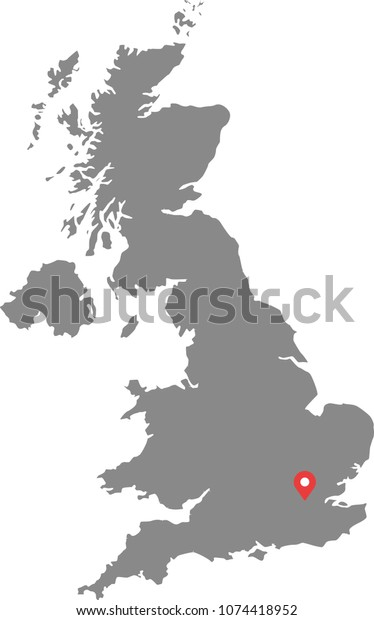 United Kingdom Uk Map Vector Outline Stock Vector (Royalty ...