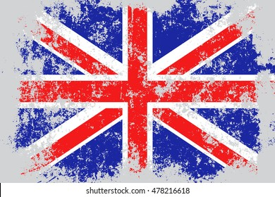 United KIngdom,Great Britain,UK,GB grunge, old, scratched style flag