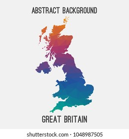Uk map stock vectors images vector art shutterstock united kingdomgreat britainukgb map in geometric polygonalmosaic style gumiabroncs Image collections
