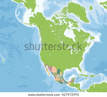 United Mexican States Map Stock Vector (Royalty Free) 427972993 ...