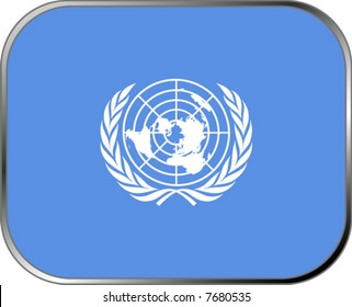 United Nations flag icon with official coloring