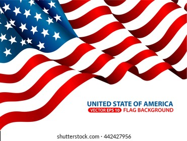 United State of America flag background vector illustration.