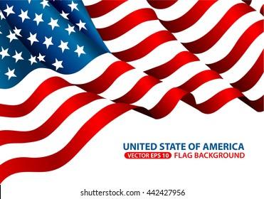 United State of America flag background vector illustration.