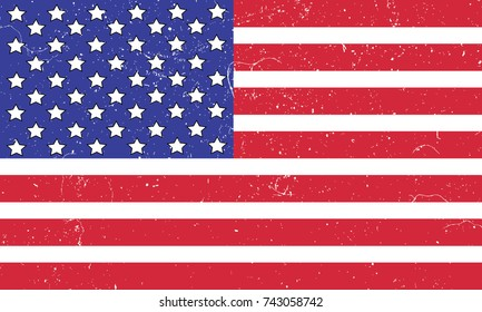 United State Of America flag. Grunge style.