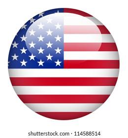 按鈕上的美國國旗