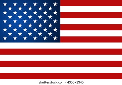 United State of America Flag. Vector illustration.