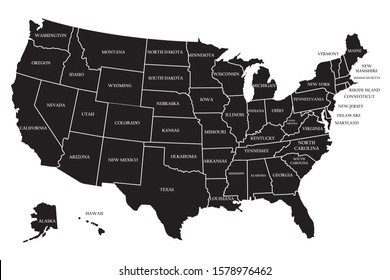 United state of America map illustration vector geography flag silhouette sign background country graphic nation