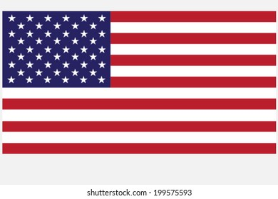 United Stated flag, vector EPS 10