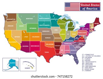 United States Map Names Images, Stock Photos & Vectors ...