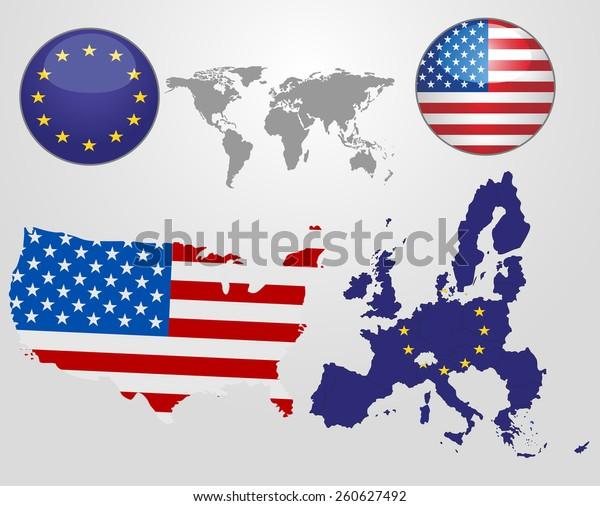 United States America European Union Flag Stock Vector (Royalty Free on india map icon, uk map icon, italy map icon, africa map icon, travel map icon, emea map icon, usa map icon, china map icon, russia map icon, mexico map icon, canada map icon, gps map icon, singapore map icon, brazil map icon, japan map icon, hk map icon, pa map icon, asia map icon, regional map icon, europe map icon,