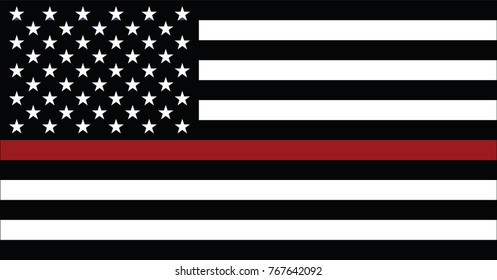 United states of America firefighter flag