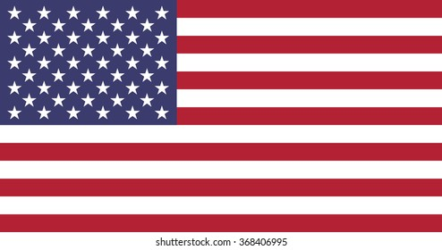 United States of America flag,  accurate proportions and colors, vector illustration.