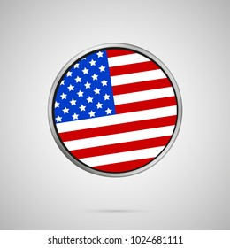 vector image of american flag in heart flag heart icon vector