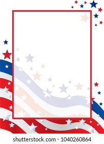 United States of America Flag Stars and Stripes Border Template