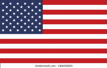 The United States of America Flag Vector Illustration