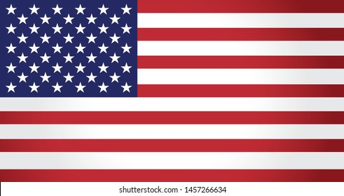 United States of America flag vector illustration