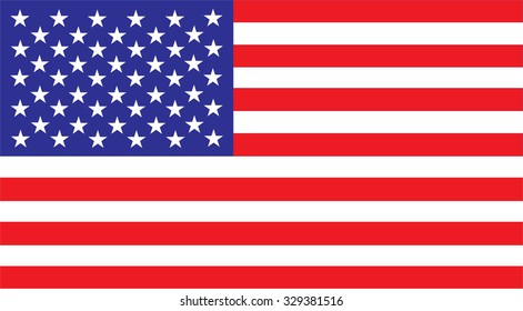 United States america Flag Vector red white blue