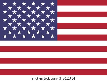 United States of America flag vector illustration for design.
