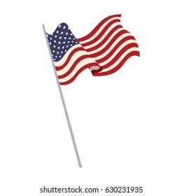 united states of america flag waving symbol national