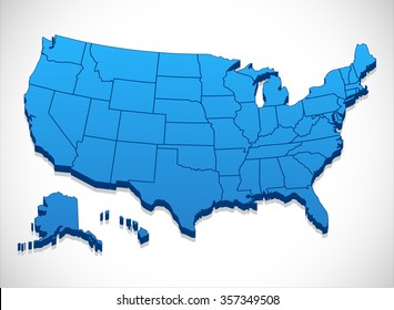 Usa Map 3d Images Stock Photos Vectors Shutterstock