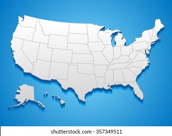 Usa 3d Map Images, Stock Photos & Vectors | Shutterstock