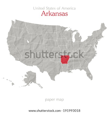 United States America Map Arkansas Territory Stock Vector (Royalty ...