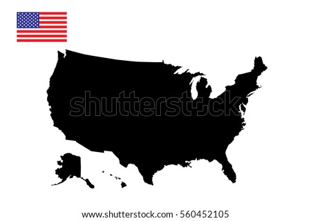 United States America Map Flag Vector Stock Vector (Royalty Free ...