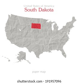 South Dakota Map Images Stock Photos Vectors Shutterstock