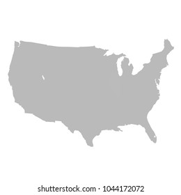 United States of America map. USA