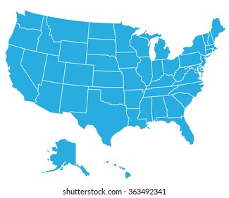 UNITED STATES OF AMERICA MAP ,USA MAP