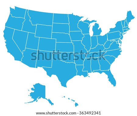 UNITED STATES AMERICA MAP USA MAP Stock Vector (Royalty Free ...