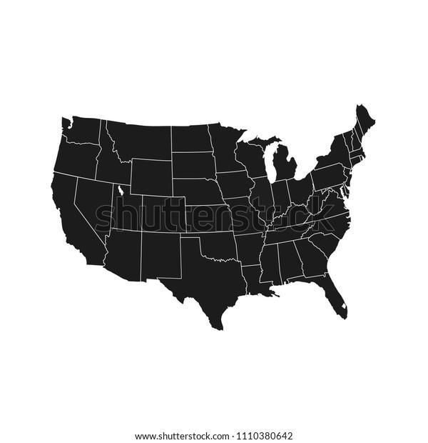 United States of America map. USA