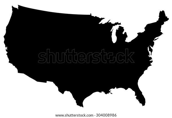 Vereinigte Staaten Der Amerika Karte Usa Karte Stock Vektorgrafik