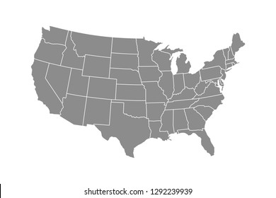 United States of America Map. Vector Map Of USA
