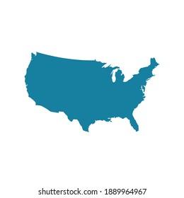 united states of america map vector illustration design