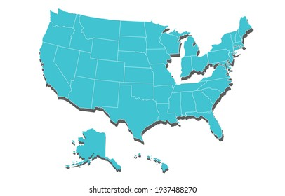 United States of America map vector,USA MAP