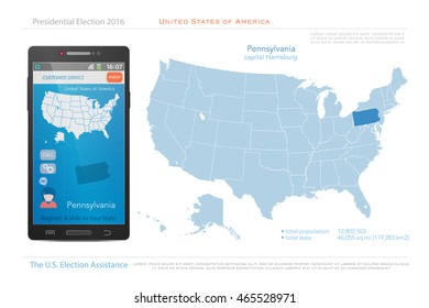 Infographic Vector Illustration Map USA Stock Vector (Royalty Free ...