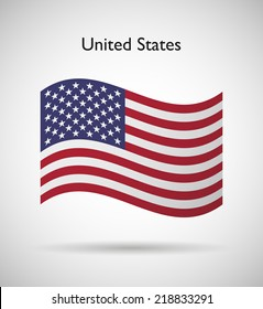 United States of America  official flag isolated illustration