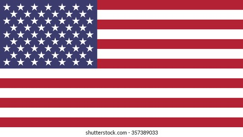 united states of america official flag usa vector us