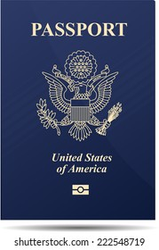United States of America Passport Realistic vector illustration
