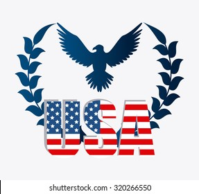 United states of america patriotist design, vector illustration eps 10.