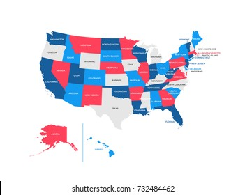 United States of America Regions Map