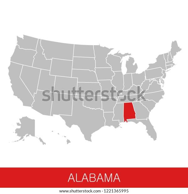 United States America State Alabama Selected Stock Image ...