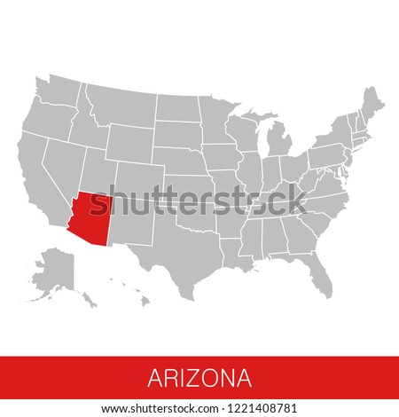 United States America State Arizona Selected Stock Vector (Royalty ...
