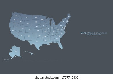 united states of america, usa vector map. editable graphic design us map.