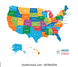 Usa Map Images, Stock Photos & Vectors | Shutterstock