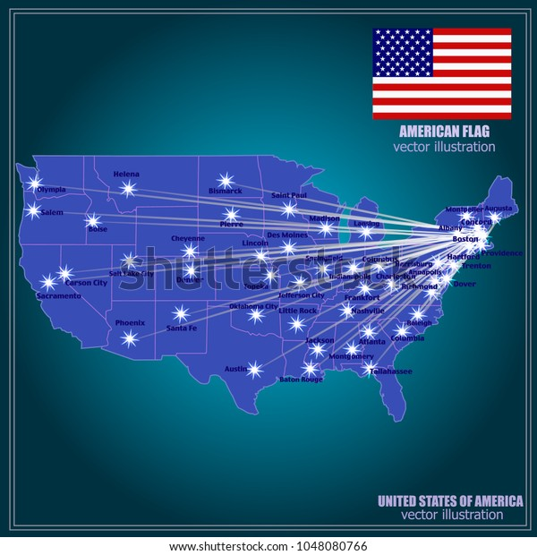 United States America Vector Map Usa Stock Image | Download Now
